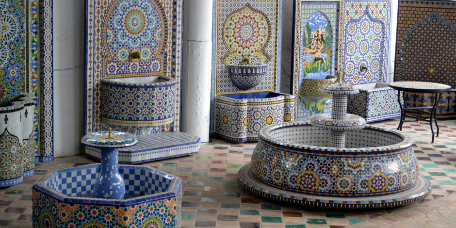 Moroccan traditional mosaic and tile